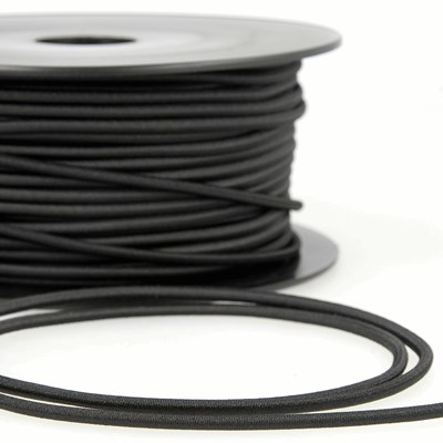Elastiek koord 1 mm - zwart 25 meter