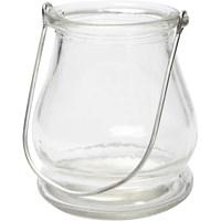 Lantaarn glas buikje hoogte 90 mm, doorsnee 100 mm (3 stuks)