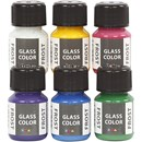 Glasverf frost assortiment (6 x 35 mm)
