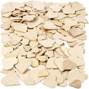 Mozaiek hartjes hout - assortiment 18-30 mm (dikte 2 mm)