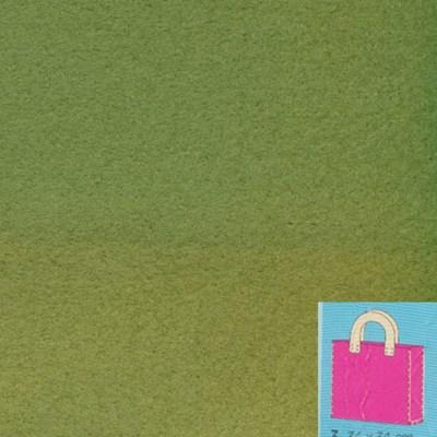 Vilttas pakket groen op=op - heeft verkleurde baan
