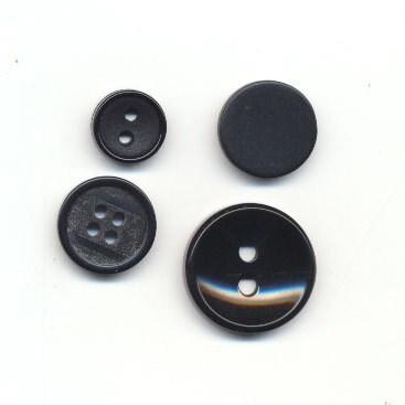 knoop 28 mm zwart op=op