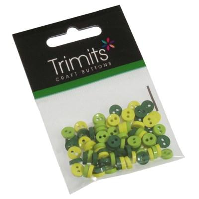 knoop 6 mm groen mix op=op