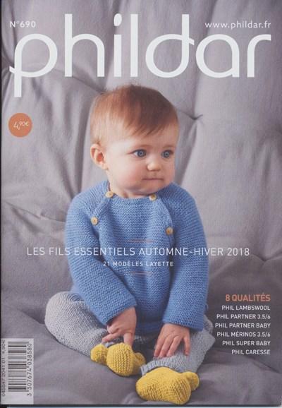 Phildar nr 690 Frans Les fils essentiels Automne-Hiver 2018 (op=op)