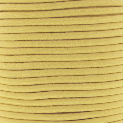 Elastiek koord 3 mm - geel zacht 1 meter