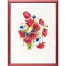 Borduurpakket bloemen klaprozen 43 a 35 cm 237100