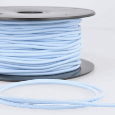 Elastiek koord 3 mm - licht denim blauw 1 meter
