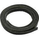 Leerband 10 mm zwart (10 cm)
