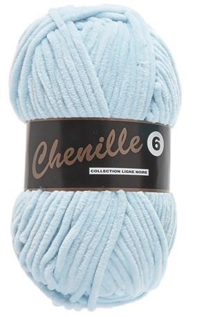 Lammy Yarns Chenille 6 - 011 baby blauw