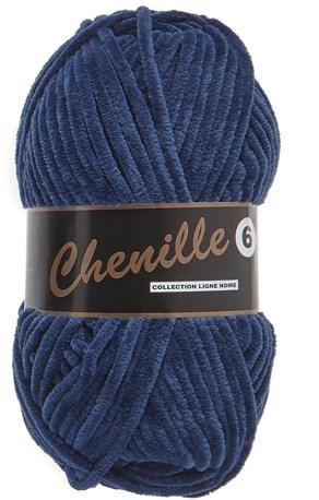 Lammy Yarns Chenille 6 - 890 jeans blauw
