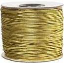 Elastiek koord 1 mm - goud (100 meter)