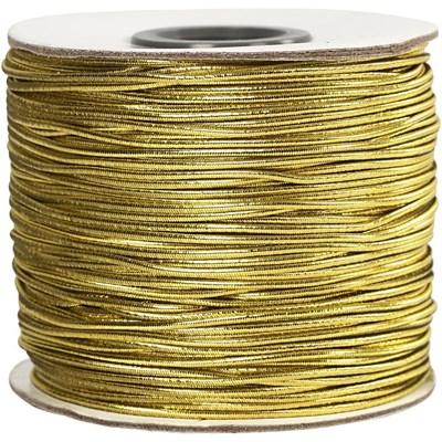 Elastiek koord 1 mm - goud 100 meter