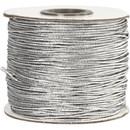 Elastiek koord 1 mm - zilver (100 meter)