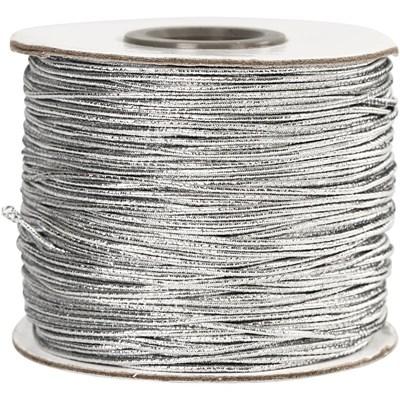 Elastiek koord 1 mm - zilver 100 meter
