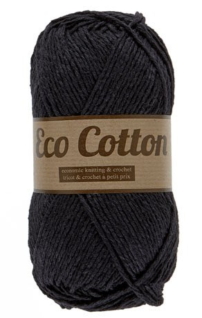 Lammy Yarns Eco Cotton 001 zwart