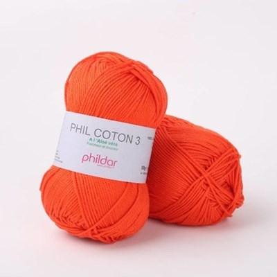 Phildar Phil coton 3 Vermillon 2033