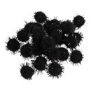 Pompon 13 mm metallic black (ca 100 stuks)