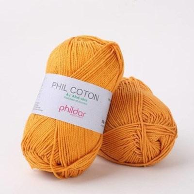 Phildar Phil Coton 4 Safran - goud geel