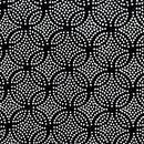 Tissu de Marie 96611 cirkels met stippen (per 50 cm)