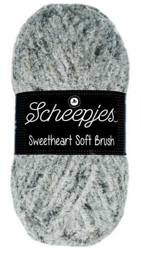 Scheepjes sweetheart soft brush - 528 grijs gemeleerd