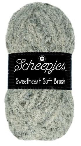 Scheepjes sweetheart soft brush - 527 grijs room gemeleerd