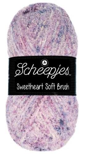 Scheepjes sweetheart soft brush - 533 lila gemeleerd