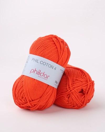 Phildar Phil Coton 4 Vermillon 2033 - Oranje