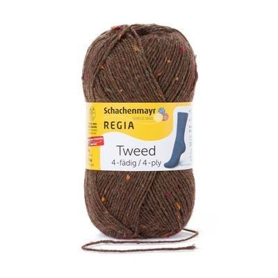 Regia tweed 4-play 0010 borke tweed 50 gram