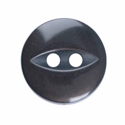 Knoop 11 mm donker grijs 10 stuks