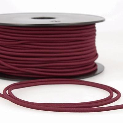 Elastiek koord 3 mm - donker rood 1 meter