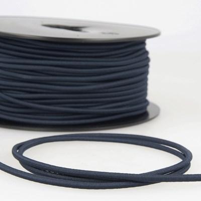 Elastiek koord 3 mm - marine blauw 1 meter