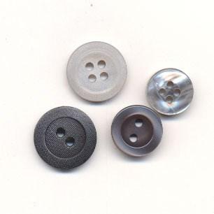 Knoop 15 mm grijs
