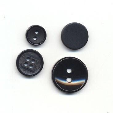 Knoop 20 mm zwart