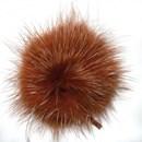 Pompon de luxe bruin rood (25 mm)