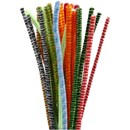 Chenille 6 mm - 30 cm multi colour ass. (30 stuks)