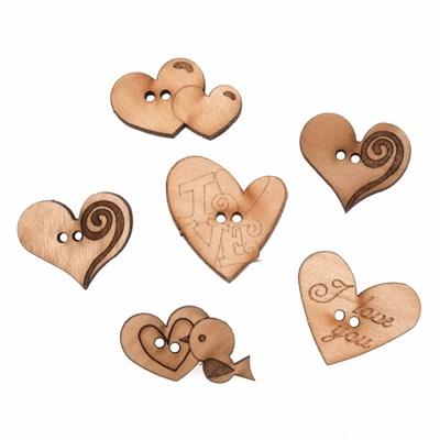 knoop 15 - 25 mm harten hout 6 stuks