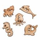 knoop 25 - 30 mm zeedieren (5 stuks)