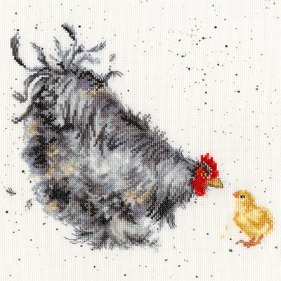 Borduurpakket vogel - Mother Hen