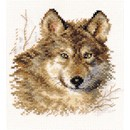 Borduurpakket dieren - Wolf 1-27