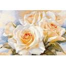 Borduurpakket bloemen Witte rozen AL02032 (OP=OP)