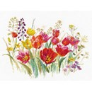 Borduurpakket bloemen Field of Tulips al-2-34 (op=op)