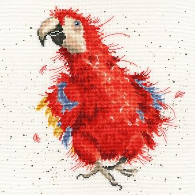 Borduurpakket vogel - Parrot on Parade