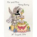 Borduurpakket huwelijk - Bebunni Cutting the cake