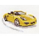 Borduurpakket yellow sportscar