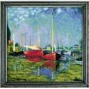 Borduurpakket boot - Argenteuil after C. Monets painting