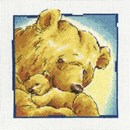 Borduurpakket Grote en kleine beer knuffelen c192