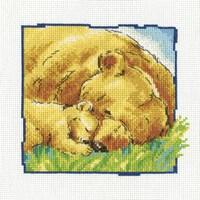 Borduurpakket Grote en kleine beer slapen