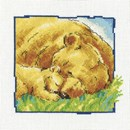 Borduurpakket Grote en kleine beer slapen c193