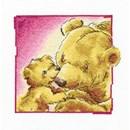 Borduurpakket Grote en kleine beer kusje c194