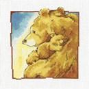 Borduurpakket Grote en kleine beer slaap zacht c195